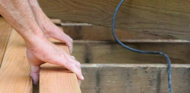 We repair decks, docks and porches